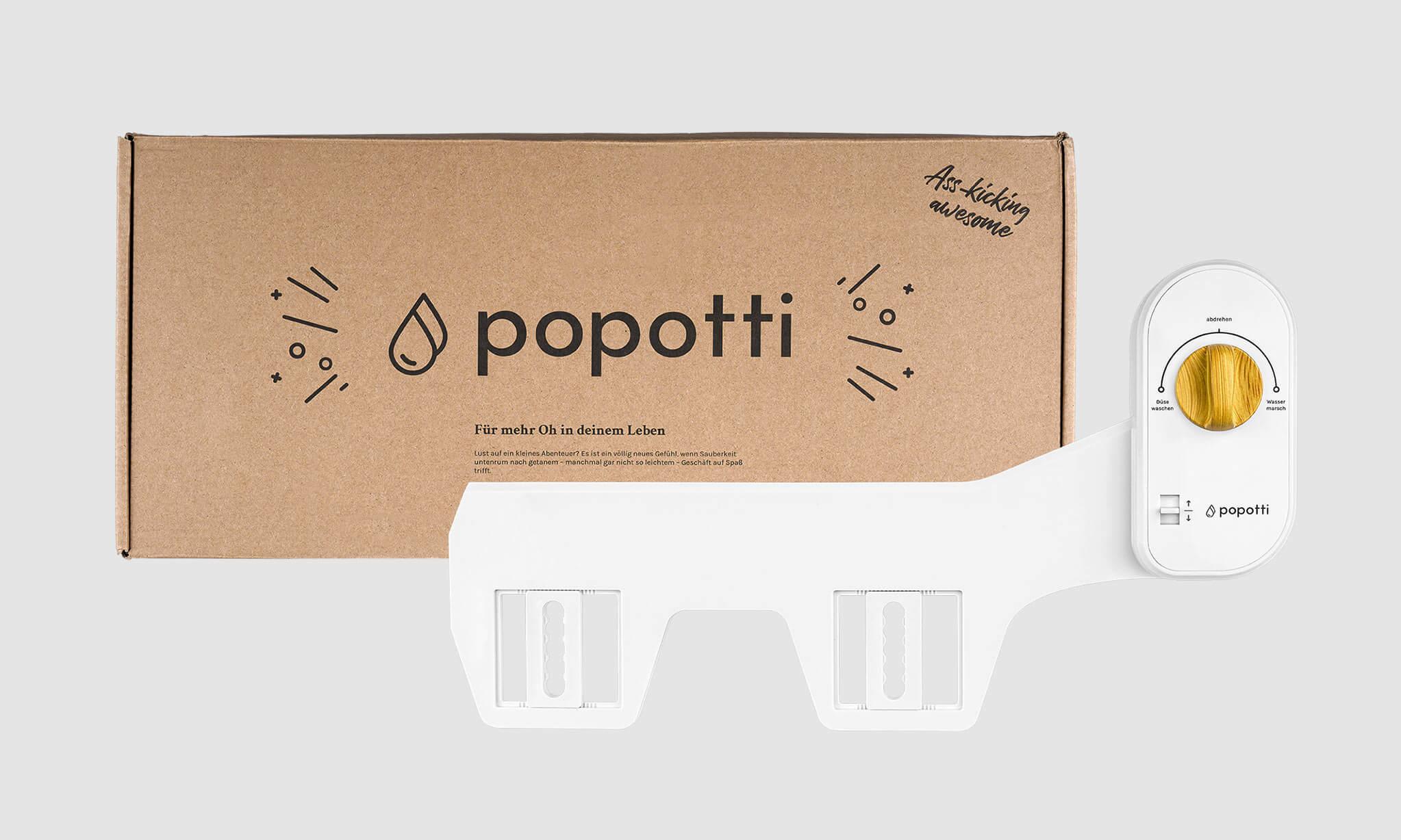 popotti Logo und Packaging