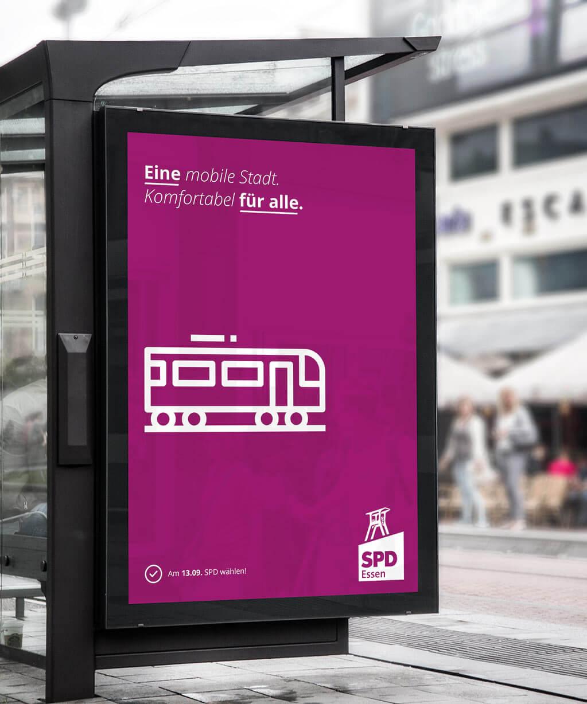 Eine mobile Stadt für alle Ikon-Sprache